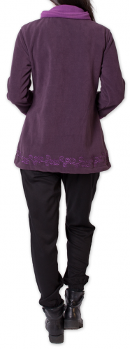 Veste polaire Bicolore et Ethnique pour Femme Kasamance Violette 275653