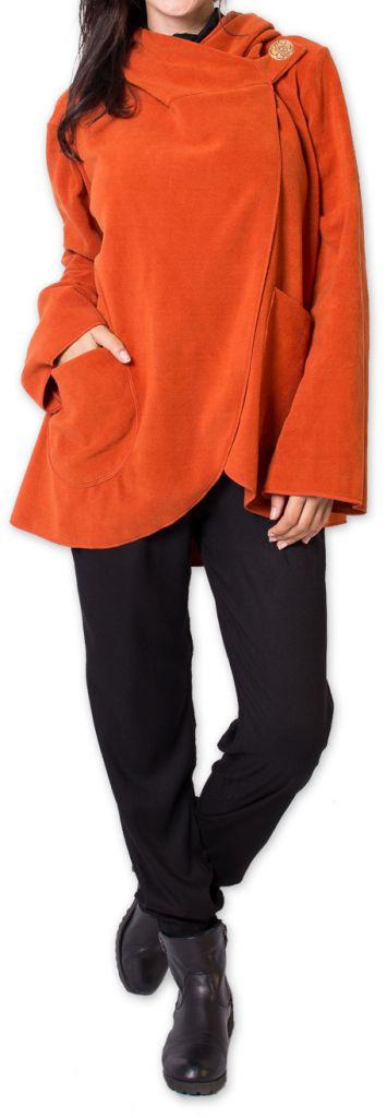 Veste polaire pour Femme Ethnique et Chaude Ottawaa Orange 275901