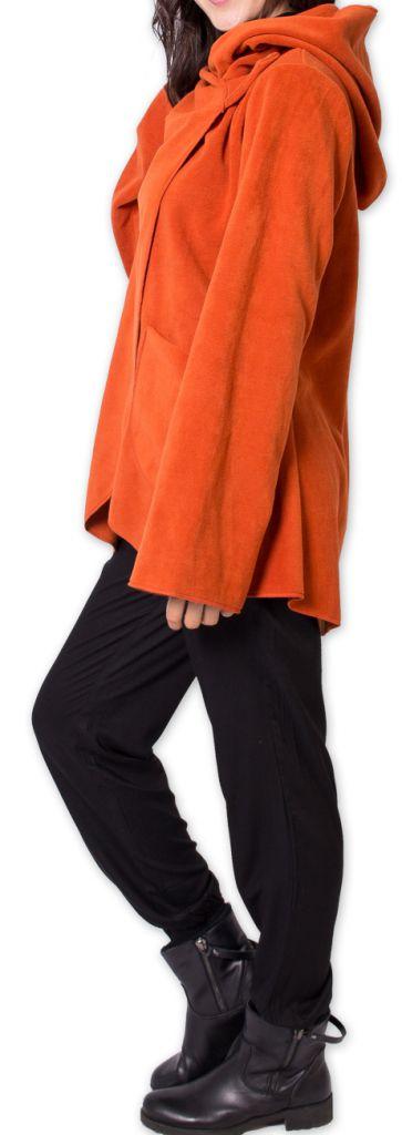 Veste polaire pour Femme Ethnique et Chaude Ottawaa Orange 275902