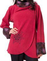 Veste polaire pour Femme Ethnique et Imprim�e Huddson Rouge 275609