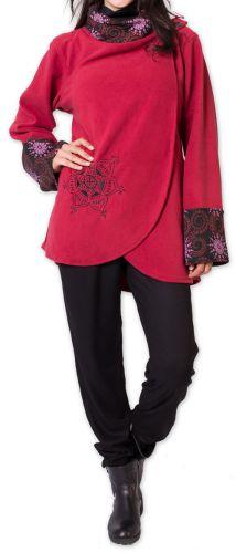 Veste polaire pour Femme Ethnique et Imprimée Huddson Rouge 275610