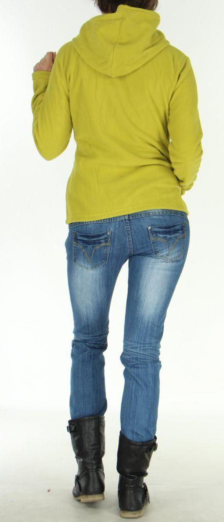Veste Polaire pour Femme Style Tribal et Coloré Butwal Anis 277606