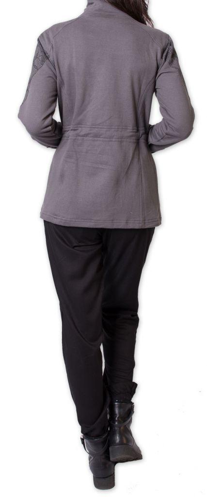 Veste pour Femme cintrée Chic et Ethnique Cavaly Grise 277485