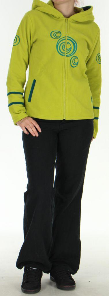Veste pour Femme Colorée et Chaude en polaire Selen Anis 276285