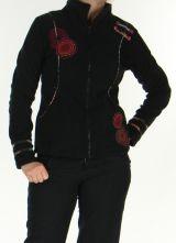 Veste pour Femme Color�e et Chaude en polaire Shainel Noire 276202