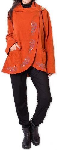 Veste pour Femme en Polaire Ethnique et Originale Colombia Orange 275582