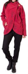 Veste pour Femme en Polaire Ethnique et Originale Colombia Rouge 275586