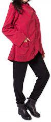 Veste pour Femme en Polaire Ethnique et Originale Colombia Rouge 275587