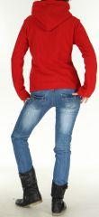Veste pour Femme en Polaire Style Tribal et Coloré Butwal Rouge 277609