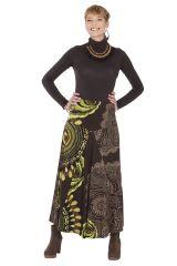 **Jupe longue Noire et Verte Ethnique et Originale Kazia 285517