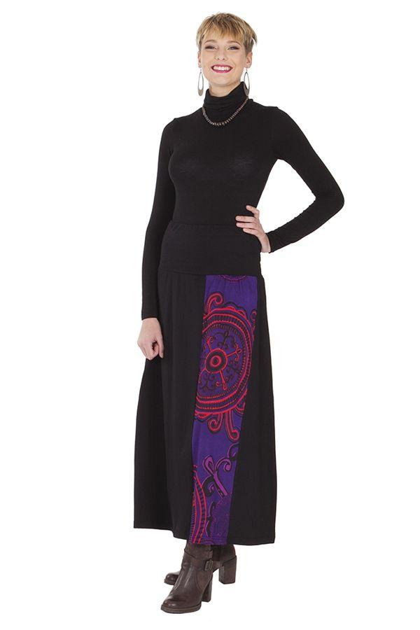 **Jupe longue Violette et Noire Chic et Originale Amanda 285533