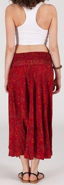 Agréable jupe longue ethnique et originale - Rouge - Baia 272092