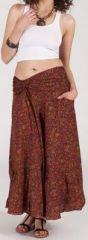 Agréable jupe longue ethnique et originale - Rouge/Orangé - Baia 272095