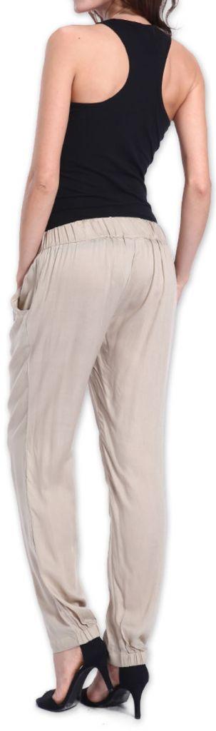 Agréable pantalon femme fluide et léger Beige Bety 273272