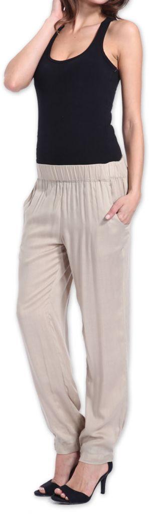 Agréable pantalon femme fluide et léger Beige Bety 273273