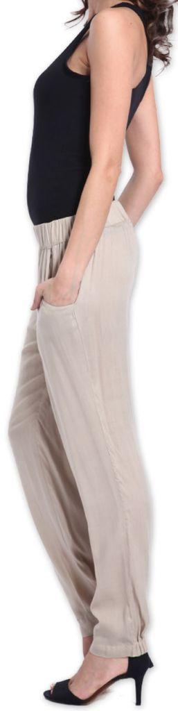 Agréable pantalon femme fluide et léger Beige Bety 273274