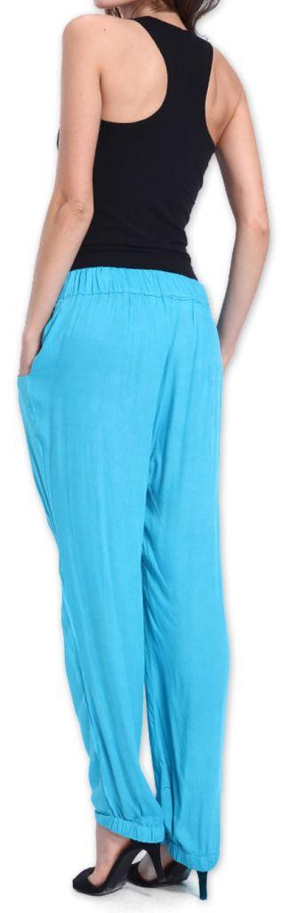 Agréable pantalon femme fluide et léger Bleu Bety 273280