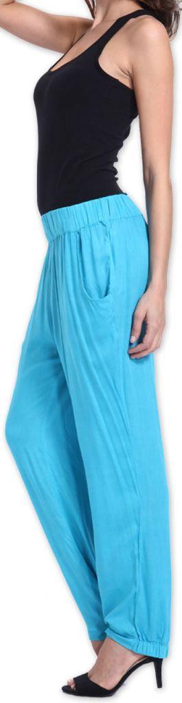 Agréable pantalon femme fluide et léger Bleu Bety 273282