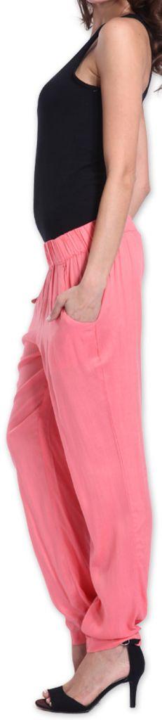 Agréable pantalon femme fluide et léger Rose Bety 273278