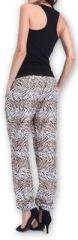 Agréable pantalon femme fluide imprimé Zèbre Lexi 1 273552