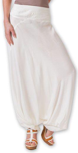 Authentique sarouel femme ethnique d'Inde Blanc Fanny 273463