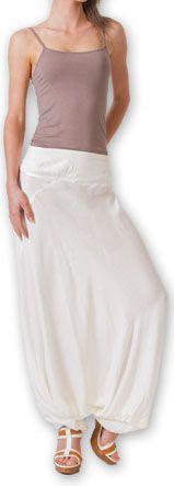 Authentique sarouel femme ethnique d'Inde Blanc Fanny 273466
