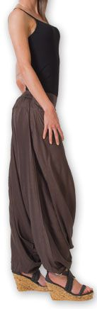 Authentique sarouel femme ethnique d'Inde Marron Fanny 273473