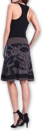 Belle Jupe courte d'été ethnique et colorée Grise Paty 273612