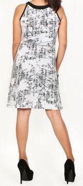 Belle robe courte d'été - sans manches - ethnique et colorée- Blanche - Stiva 272082