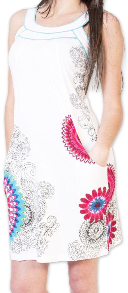 Belle robe d'été courte tendance et ethnique Blanche Larae 273543