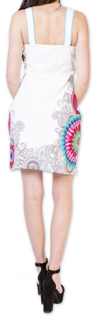 Belle robe d'été courte tendance et ethnique Blanche Larae 273544