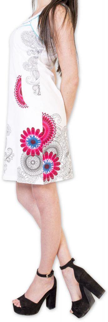 Belle robe d'été courte tendance et ethnique Blanche Larae 273545