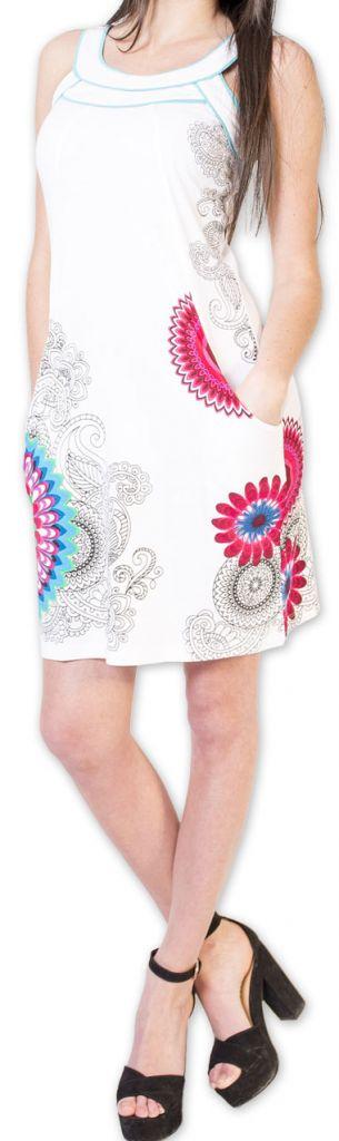 Belle robe d'été courte tendance et ethnique Blanche Larae 273546
