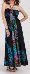 Belle Robe longue ethnique et originale - noire - Valencia 271894