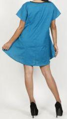 Belle tunique d'été originale pour femme - Bleue - Celina 272030