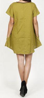 Belle tunique d'été originale pour femme - Verte - Celina 272032