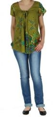 Blouse colorée pour femme kaki Nabilly 269362