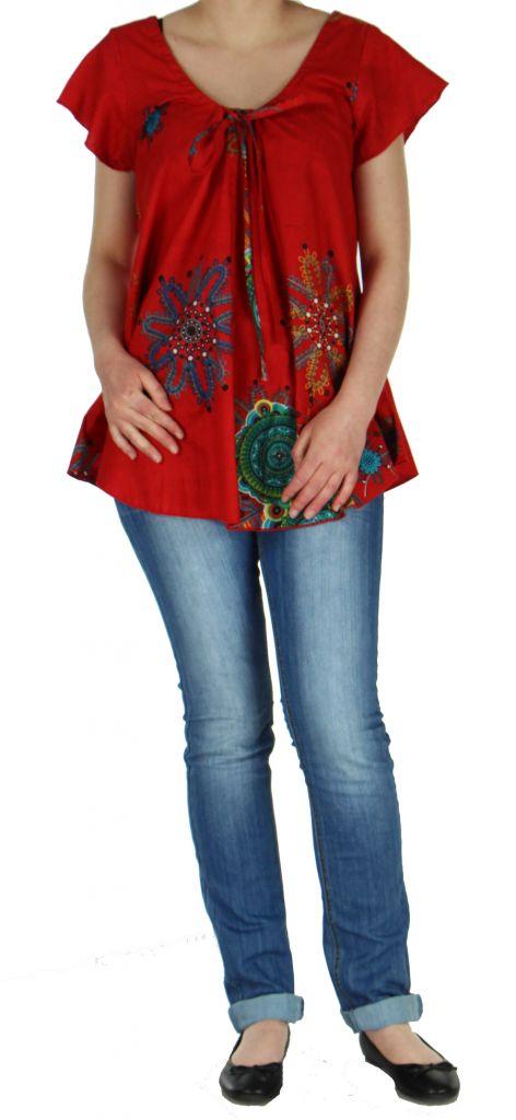 Blouse colorée pour femme rouge Nabilly 269360