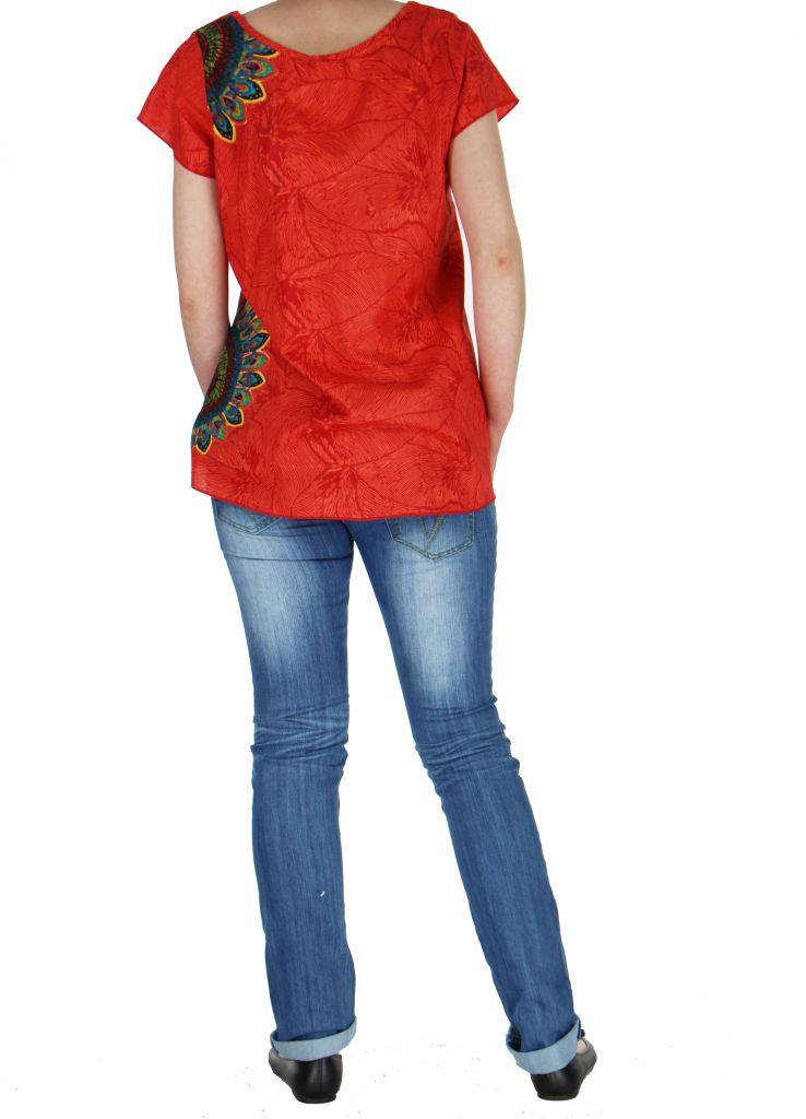 Blouse femme ethnique rouge Nilla 268568