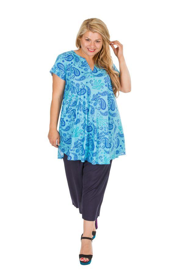 Blouse tunique femme grande taille look bohème Alissia