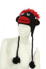 Bonnet en laine fun avec grelot doublé polaire 248029