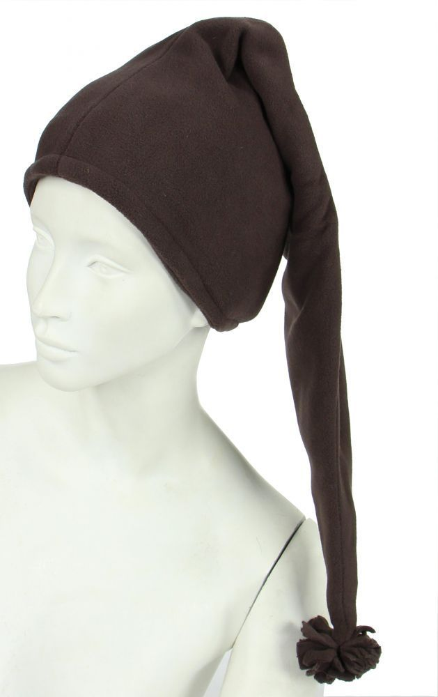 Bonnet long en polaire marron 248057