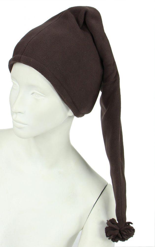 Bonnet long en polaire marron 248057