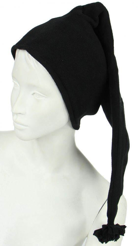 Bonnet long en polaire noir 248055