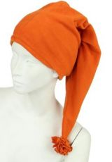 Bonnet long en polaire orange 248056