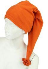 Bonnet long en polaire orange 248056