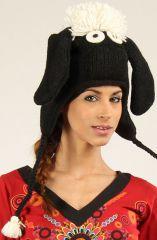 Bonnet Mixte en Laine Original et Fun Mouton Noir 277303