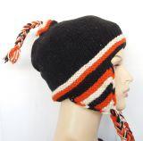 Bonnet peruvien rayé en laine doublé polaire 303419