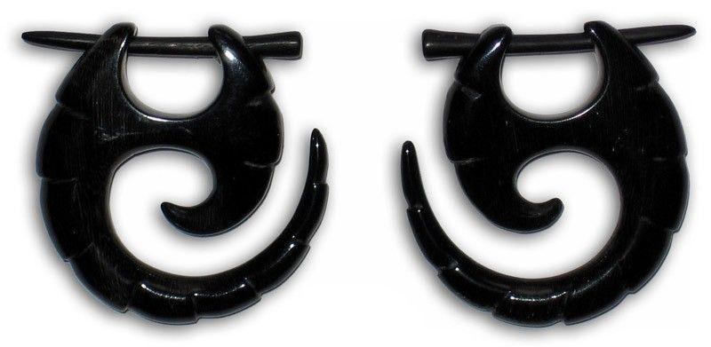 Boucle d\'oreille en corne 241128