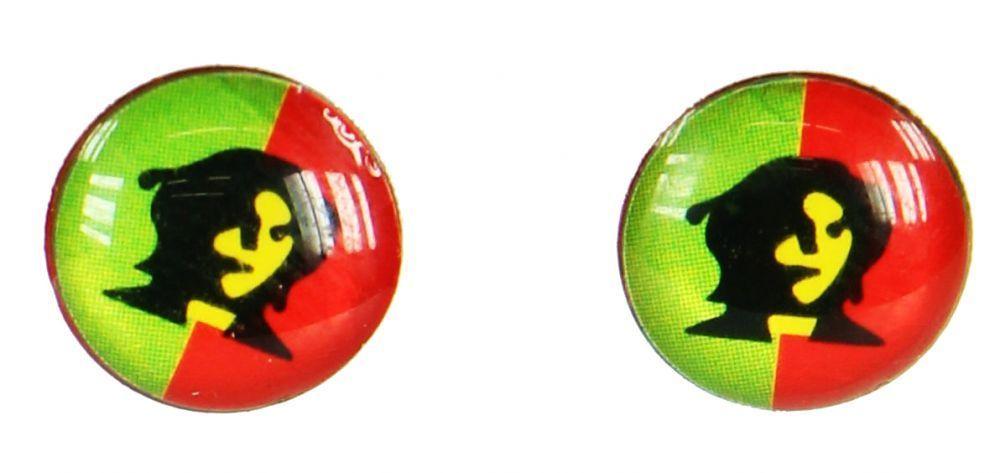 Boucles d\'oreilles clou che guevara vert/rouge 249376